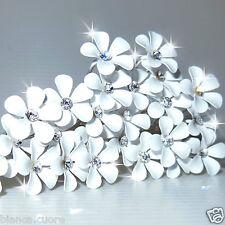 Forcine fiore Bianco Acconciatura sposa Capelli cerimonia forcina ENTRA D0483