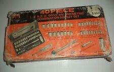 Vintage BUFFALO BRAND Socket Wrench Set  1/4