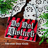 DECO Mini Sign DO NOT DISTURB Wood Ornament Bedroom Office Cubicle RED ROOM