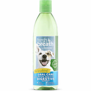 TropiClean Fresh Breath Plus Digestive Support Oral Care Water Additive for Pets