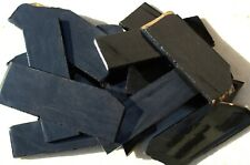 6 Black Butter Dacite Slabs Assorted Blanks Knapping Knife Arrowhead Obsidian