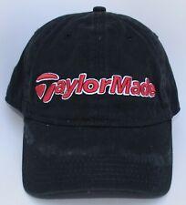 TaylorMade Golf Baseball Cap Hat One Size Strapback Black 100% Cotton