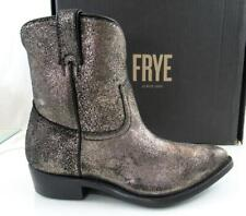 Women's Shoes Frye Billy Short Western Booties Pull On Ankle Boots Gold Size 9