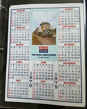 1979 SCL L&N Railroad Calendar -  Seaboard Coast Line Louisville & Nashville RR