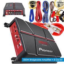 Pioneer Gm-A3702 500 Watt 2-Channel Car Audio Full Range Amplifier + 8 Gauge Kii