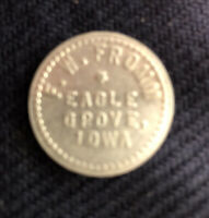 Vintage Eagle Grove Iowa IA 5 Cent Trade Token F. W. Fromm Store General Goods