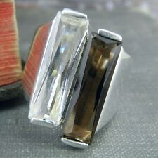 NF Thailand Long CZ & Topaz Sterling Silver Ring