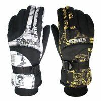 Men Ski Gloves Winter Warm Windproof Thermal Waterproof Snowboard Sports Gloves