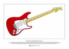 David Gilmour's Candy Apple Red Stratocaster Ltd Edition Fine Art Print A3 size