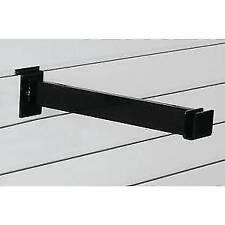 """Slatwall Hangrail Bracket 12"""" Black Rectangle , 94766"""