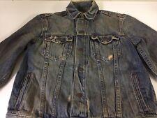 Abercrombie & Fitch 1892 Women's Sz M Blue Jean Denim Jacket Factory Distressed