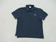 New listing Lacoste Polo Shirt Adult Medium Size 4 Blue Green Crocodile Logo Rugby Mens A78
