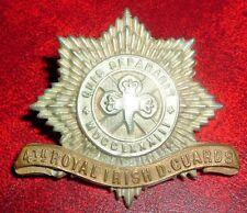 CAP BADGES-ORIGINAL BOER WAR 4th ROYAL IRISH DRAGOON GUARDS ON LUGS