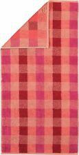 Cawö 770 Handtuch oder Duschtuch Karo Check rouge rot pink