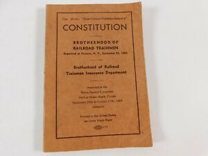 1964 CONSTITUTION THE ORDER OF RAILROAD TELEGRAPHERS BOOK UNION CONSTITUTION