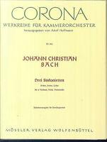 JOH. CHR. BACH ~ Drei Sinfonietten A-Dur, D-Dur, C-Dur für Streicher