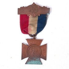 Vintage 1883 Civil War Woman's Relief Corps Medal Ribbon 2.90""