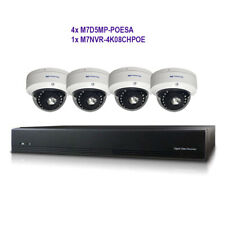 MICROSEVEN 8CH 8MP POE NVR 8TB HDD +4x 5MP POE DOME IP Camera Works with Alexa