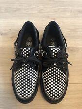 T.U.K. Mens Creeper Shoes Black White SKA - UK9
