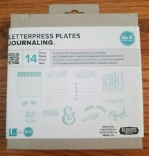WE R Memory Keepers LETTERPRESS PLATEs SET Journaling Scrapbook 14 pieces NEW