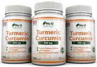 Turmeric Curcumin 3 x 365 capsules 500mg Anti-inflammatory Nu U Nutrition