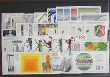Germany Complete Year 1993 Stamp Set + C/Ds Sheet Singles MNH German Stamps