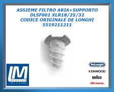 ASSIEME FILTRO ARIA+SUPPORTO DLSF001 XLR18/25/32 5519211211 DE LONGHI ORIGINALE