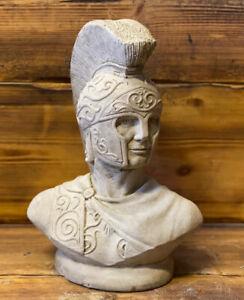 STONE GARDEN ROMAN CENTURION MAN BUST STATUE SOLDIER ORNAMENT