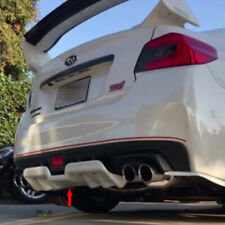 Unpainted For Subaru WRX STI 4DR H Style Rear Diffuser Bumper Spoiler 2015-2019
