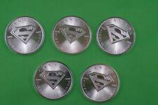 Five  -  1 OZ Pure Silver  -   Superman's Shield  Coins  -  2016