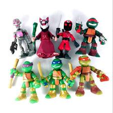 """Lot 7PCS TMNT Rooftop Ruckus Battle Pack 2 Teenage Mutant Ninja Turtles 2.5"""" TOY"""