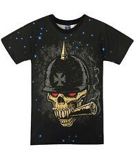 Soldier Grim Reaper T-Shirt ( gothic heavy metal skull biker graffiti tee )