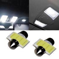 2x 12Smd 31mm COB LED DE3175 Bulbs For Car Interior Dome Map Light Bulb White YU
