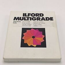 Ilford Multigrade Filter Set of 12 6 x 6 inch Free Shipping