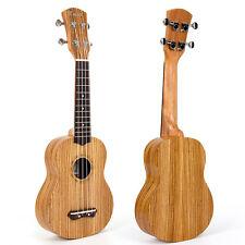 Kmise 21 Inch Soprano Ukulele Uke Hawaii Guitar 4 string Ukelele Zebrawood Gift