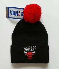 Chicago Bulls Vintage Authentic Cuff Beanie Knit NWT NBA Black Red Jordan