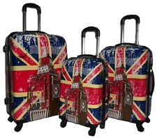 High Quality Union Jack Design Great Britain Carry on Luggage Suitcases Set of 3