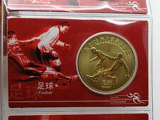 Gedenkprägung BNT Olimpiadi 2008 a Pechino card Cina CALCIO (9315)