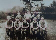 "PRINT 10"" X 7""  BAUGHURST SCHOOL FOOTBALL TEAM HAMPSHIRE c1914"