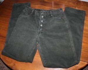 Women's  Vintage  Rockies   Button fly  Green Denim Jeans    30 x 34