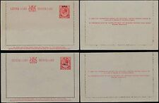 SOUTH WEST AFRICA 1923 KG5 STATIONERY LETTERCARDS SWA OPTS 2 TYPES