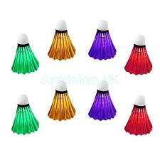 Colorful LED Badminton Shuttlecock Night Glow Birdies Great Fun - Set of 8