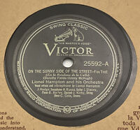Lionel Hampton 78 RPM Victor 25592 On the Sunny Side of the Street I Know VG+ 41