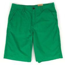"Timberland Men's Regular Flat Front Cotton Green Chino Shorts (11"" Inseam) 4852J"