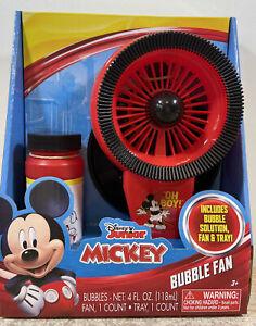 Disney Junior Mickey Mouse Bubble Fan W/ Bubble Solution & Bubble Tray NIB #2