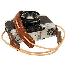 LightBrown leather neck strap for RF film Digital camera NEX E-P X10 Nikon Leica