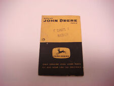 "Vintage Empty John Deere Parts Bag 4 Legged Deer 2.5"" x3.5"" Sign Adv  JDM054"