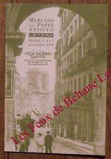 Carte publicitaire Mercado del Papel Antiguo, Madrid, 2000
