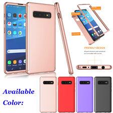 For Samsung Galaxy S10/S10+/S10e 360 Hard Full Body Case Cover+Screen Protector