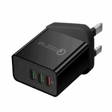 USB Plug Fast Charger Multi Quick Charging 3.0 Wall Charge UK 3-Port Adapters